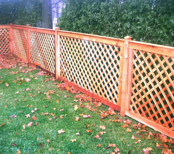 Product for Using lattice as fencing