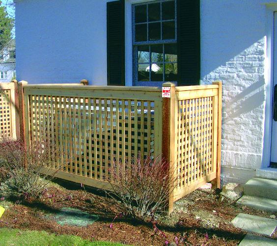 Project idea wood lattice ideas for Using lattice as fencing